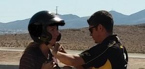 Jules helmet adjust
