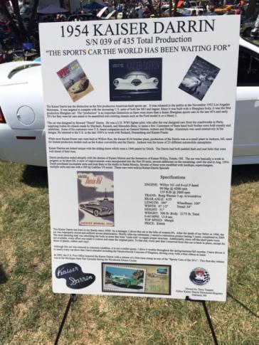 54 Kaiser Darrin fact sheet