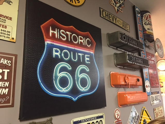 Route 66 decor