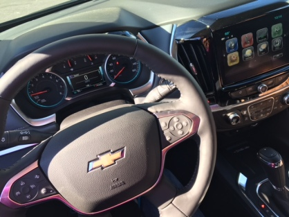 2018 Chevy Traverse interior 2