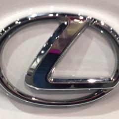 Lexus emblem closeup