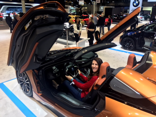 BMW i8 with Jules