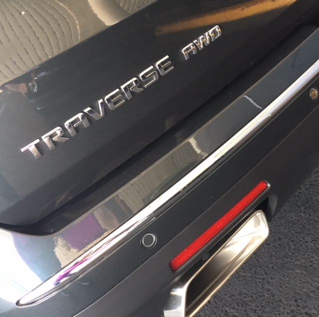 2018 Chevy Traverse AWD emblem rear