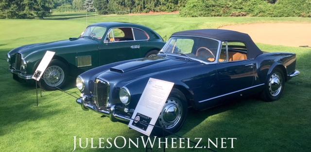 57 Lancia and 50 Aston Martin