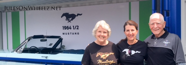 Gail, Jules and Tom with 1964.5 Mustang
