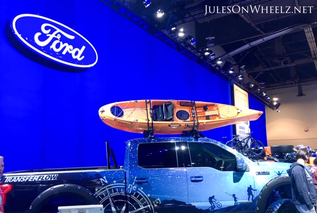 Ford F150 with kayak