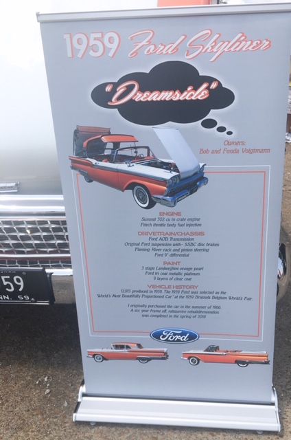1959 Ford Skyliner info board