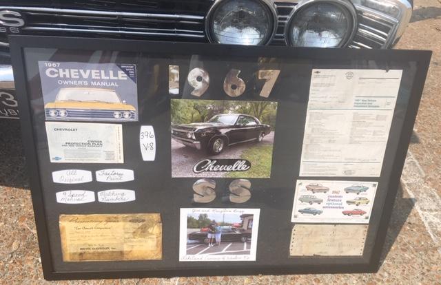 1967 Chevelle SS info board