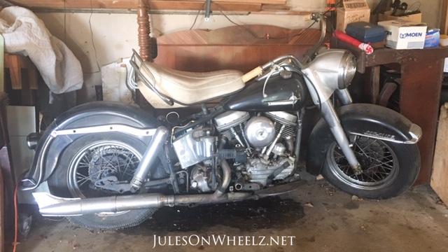 1961 Harley Davidson motorcycle