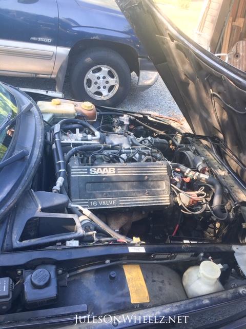 1992 SAAB backward engine