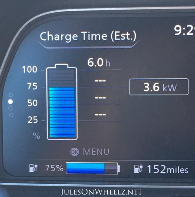 2019 Nissan LEAF PLUS, SV charging icon