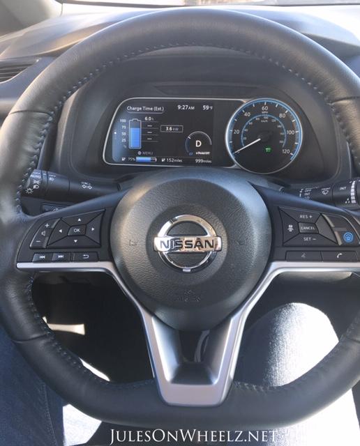 2019 Nissan LEAF PLUS, SV dash