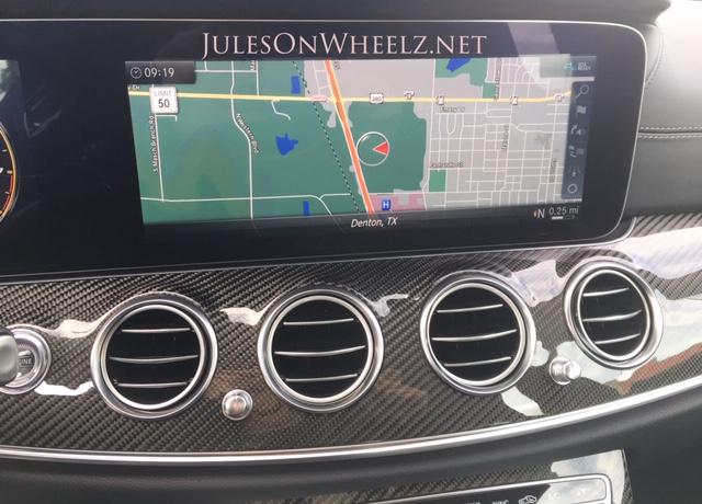 E63 S, Wagon GPS console
