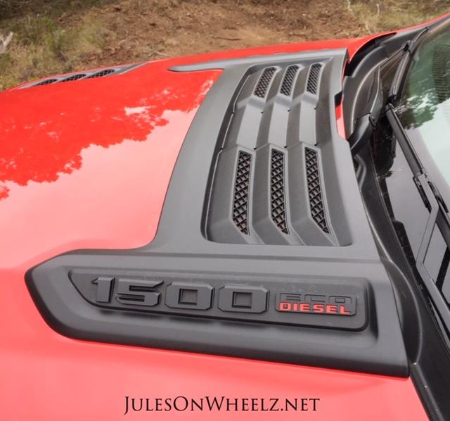 2020 RAM 1500 EcoDiesel Rebel hood